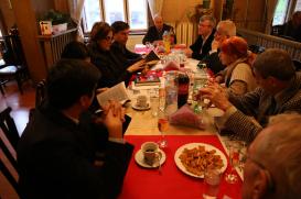 Die Delegation des Übersetzungszentrums zu Besuch im bulgarischen Schriftstellerverband