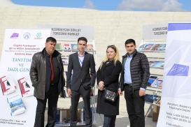 "The Azerbaijan State Translation Centre's stand at the ""Day of Reading"""