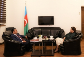 Turkish Embassy Diplomat Visits Azerbaijan Translation Centre