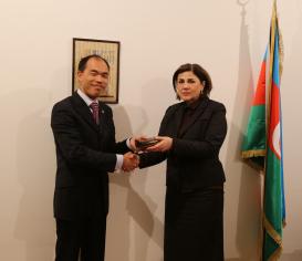 President of International Federation of Translators Visited AzTC