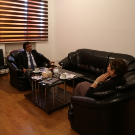 Eurasian Writers Union President Visits AzTC