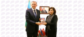 Georgian Ambassador Visits Azerbaijan State Translation Centre