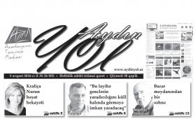 """""""Aydın yol"""" 05 avqust  2016-cı il"""