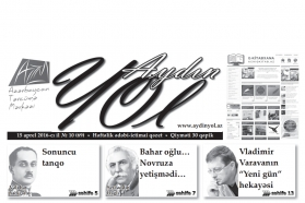 """""""Aydın yol"""" 15 aprel 2016-cı il"""