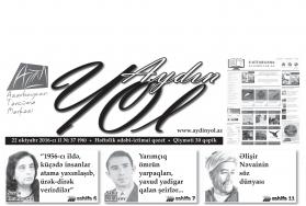"""""""Aydın yol"""" 22 oktyabr 2016-cı il"""