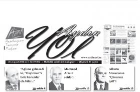 """""""Aydın yol"""" 26 avqust 2016-cı il"""