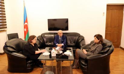 აზერბაიჯანის სახელმწიფო თარგმანის ცენტრის შეხვედრა ავსტრიის წარმომადგენლობის ხელმძღვანელთან