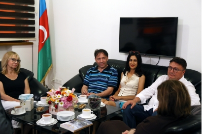Well-known Ukrainian writer visits AzTC