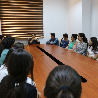 Newly Admitted Students Visit AzTC Office