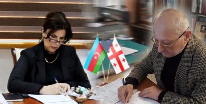 """Dövlət Tərcümə Mərkəzi ilə Gürcüstanın """"İverioni"""" nəşriyyatı arasında  Memorandum imzalandı"""