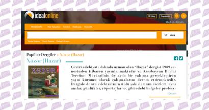 """ჟურნალი """"ხაზარი"""" თურქეთის ელეკტრონულ ბიბლიოთეკაში"""