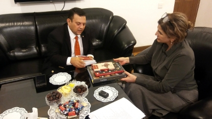 Turkey Embassy Counsellor Visits AzTC