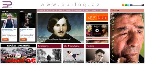 """ფუნქციონერება დაიწყო კულტურის პორტალმა """"Epiloq.az""""-მა"""