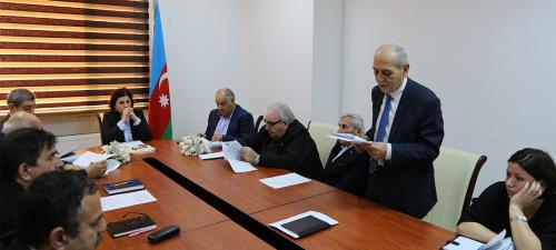 جلسه ی بعدی شورای علمی بنیاد ترجمه ی دولتی آذربایجان برگزار شد.