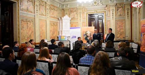 Die Präsentation der Ghaselsammlung von Nasimi im Schriftstellerverband der Ukraine stattgefunden